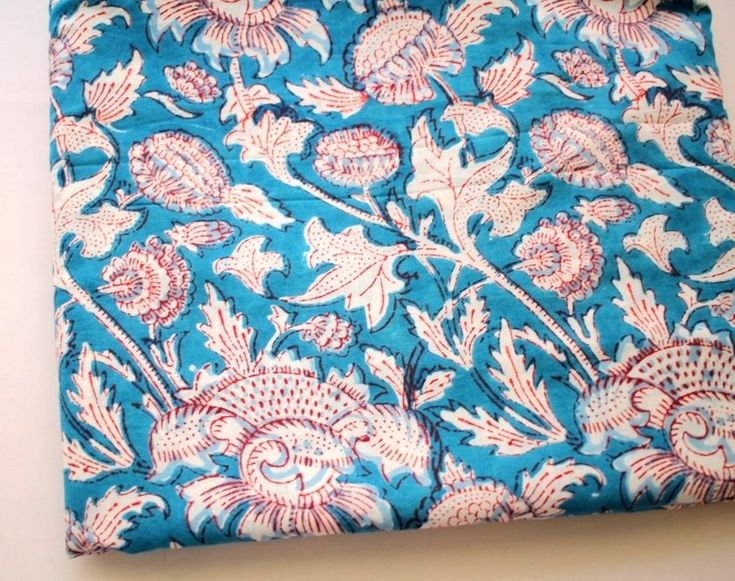 Blue floral cotton fabric dress material ₹100.00 Big Floral print Indian cotton fabric on a blue background. It's a lightweight cotton which is popular during the summer months to make tunics, kurta and dresses. The fabric is soft that you can also ... https://shop.chezvies.com/#!/Blue-floral-cotton-fabric-dress-material/p/103722770