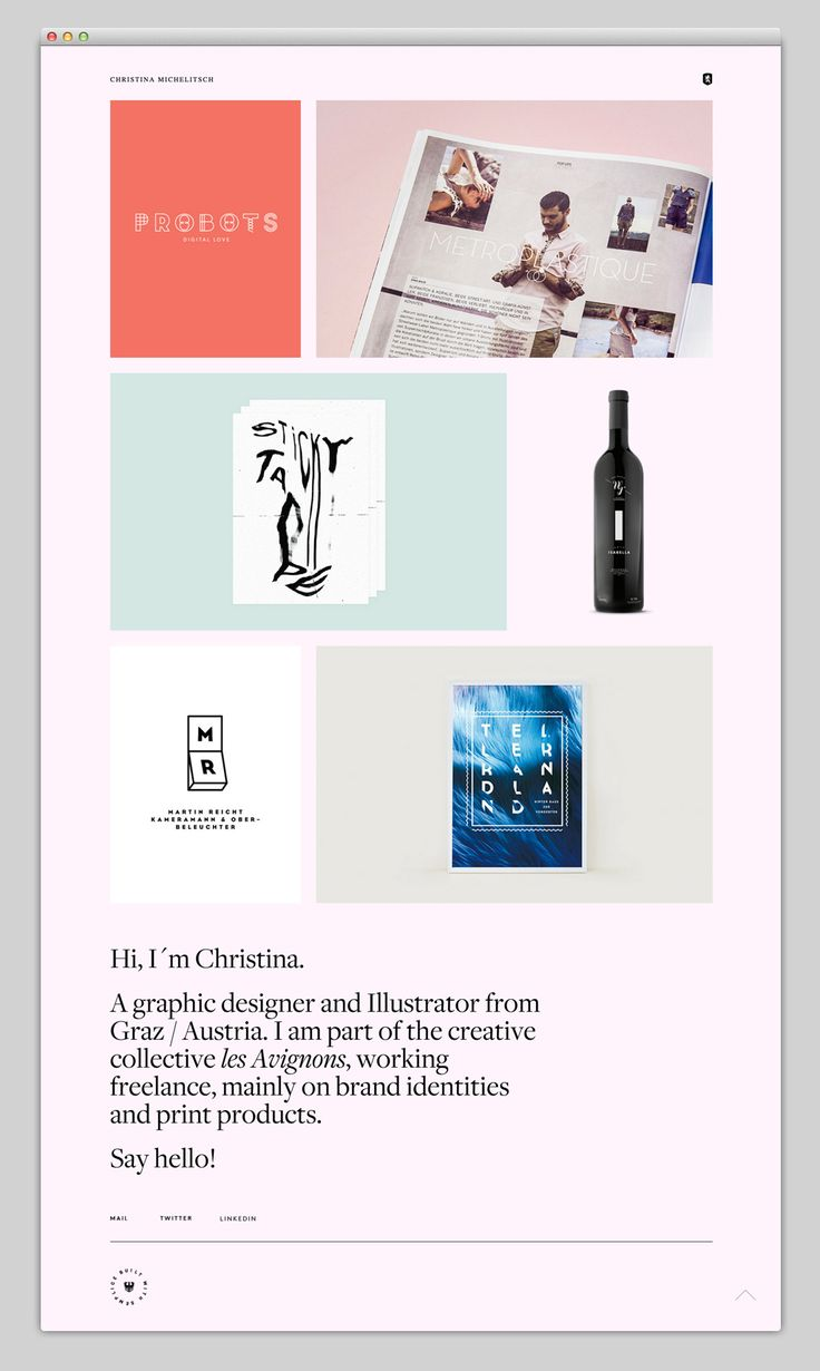 The Web Aesthetic — Christina Michelitsch built with Semplice