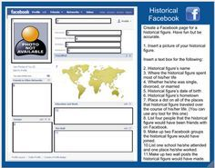 Historical Facebook: This is a google doc template that allows students to create a facebook page for a historical figure. Comes complete with directions and awesomeness.