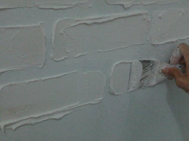 Eu Amo Artesanato: Como fazer parede de tijolinho a vista com massa corrida