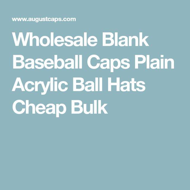Wholesale Blank Baseball Caps Plain Acrylic Ball Hats Cheap Bulk