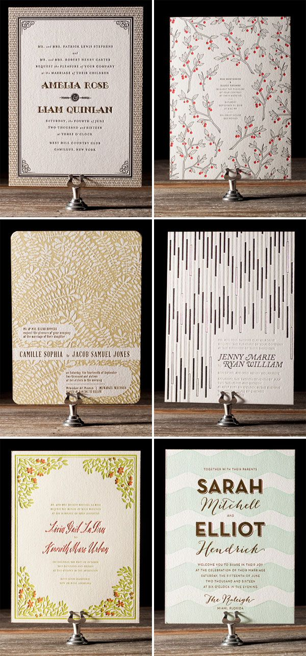 Bella Figura Letterpress Wedding Invitations