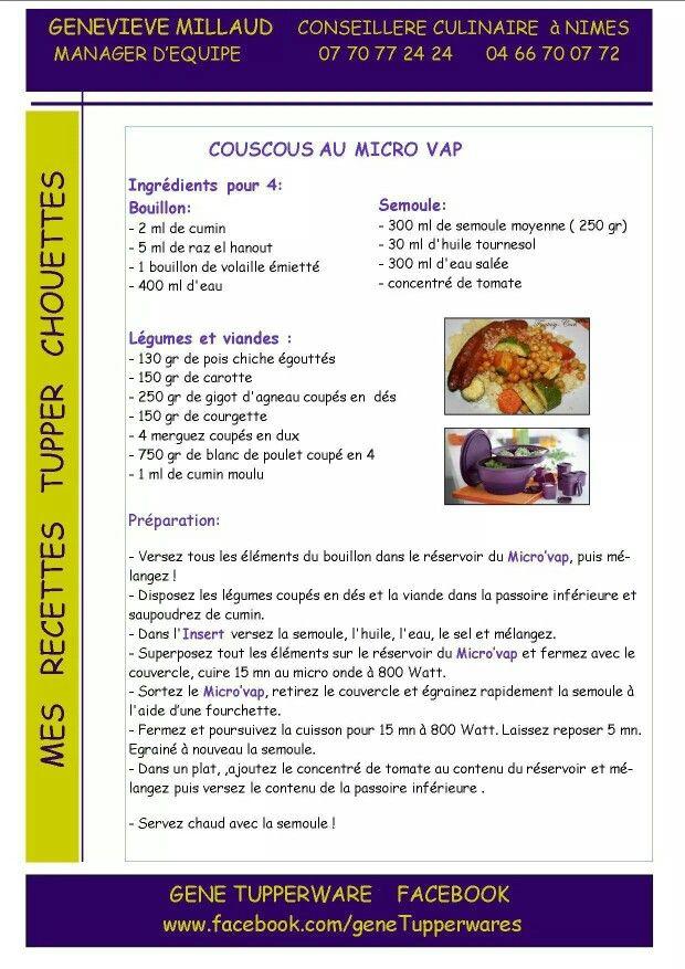 Tupperware - Couscous au micro vap