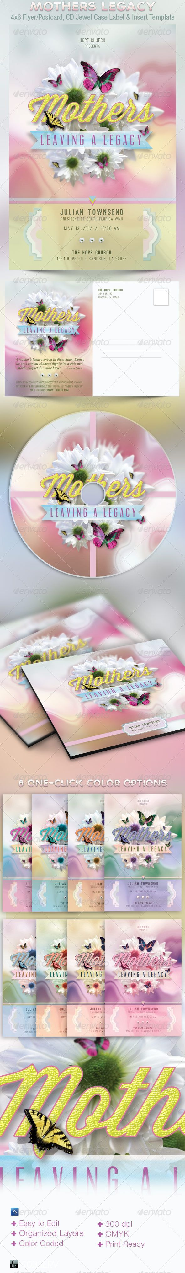 Mothers Leaving A Legacy Flyer and CD TemplateWhite Flower