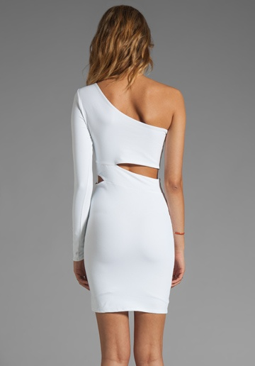 DONNA MIZANI Ultra Soft Classic Cut Out Dress in White at Revolve Clothing - Free Shipping!
