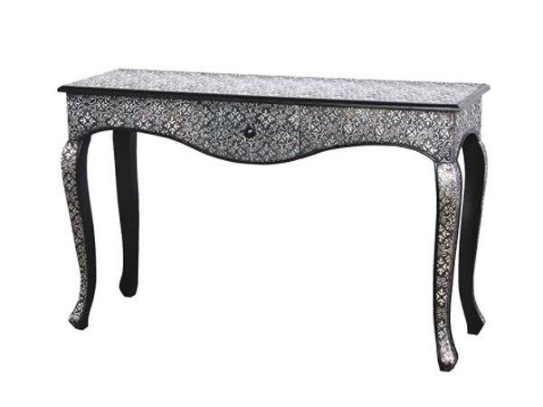 Konsollbord i sølv/antikk utførelse