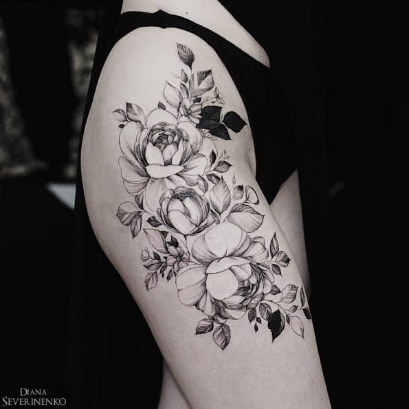 Charming Floral Tattoo World von Diana Severinenko