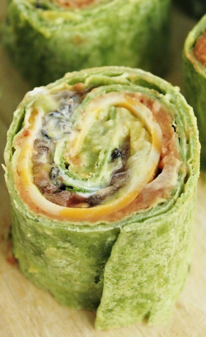 Seven Layer Dip Tortilla Pinwheels - I love Pinwheels and taco dip, these sound amazing!
