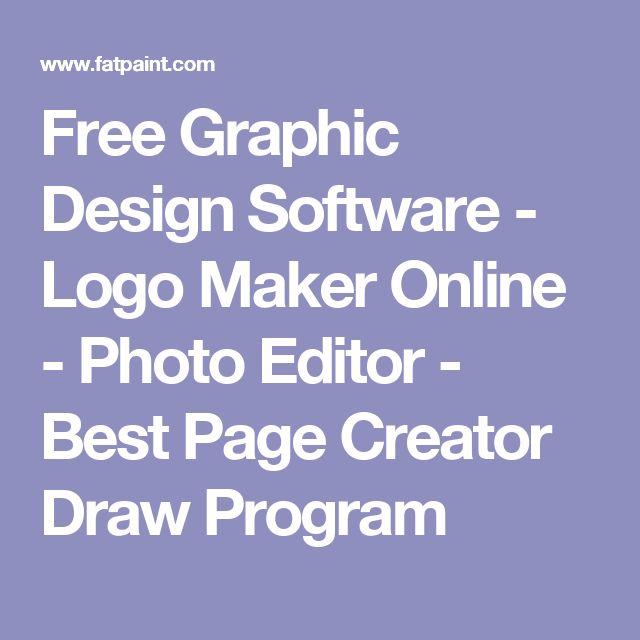Free Graphic Design Software - Logo Maker Online - Photo Editor - Best Page Creator Draw Program
