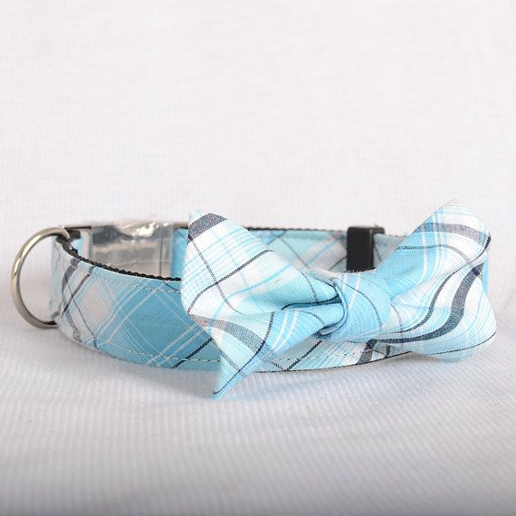 Laser Engraved Personalized Dog Collar+Bow Tie set,1 Inch Wide, in Fabric 03,- Free Worldwide Shipping on Etsy, $17.50
