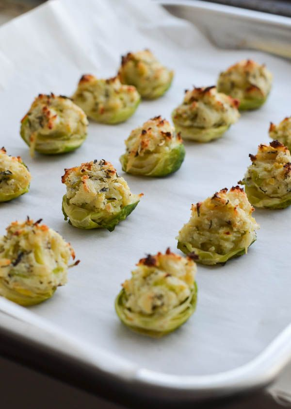 RICOTTA & HERB STUFFED BRUSSELS SPROUTS from Rachel Schultz