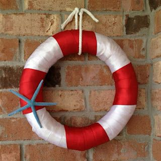 Summer wreath-Nautical by Nature: Nautical DIY Crafts/Decorating- add some shells and u have a summer reef!