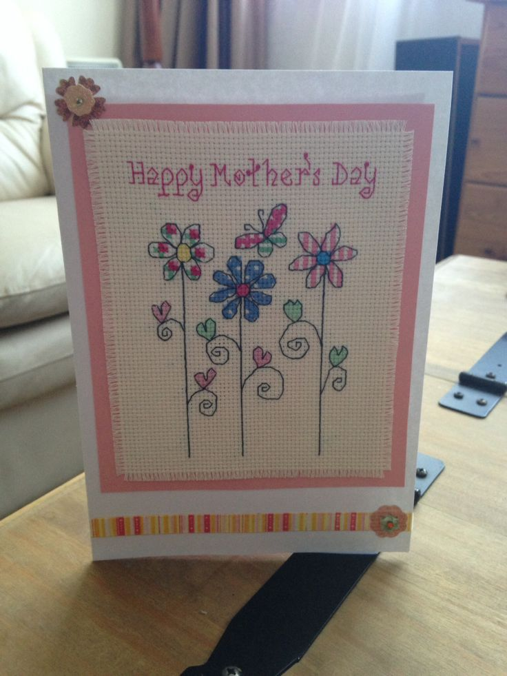 Completed Mother's Day card for my lovely Mummy ☺️