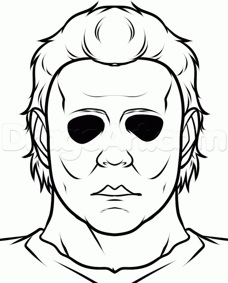 how to draw michael myers easy step 7