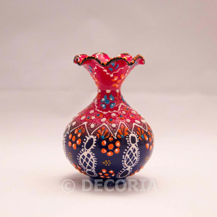 Small Vase - Red & Blue - DECORIA HOME & GIFT
