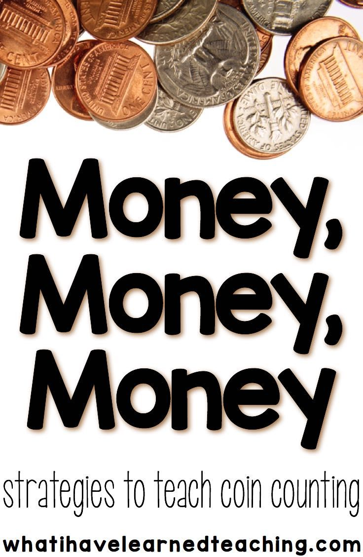 Strategies to teach money concepts to students, specifically coin counting and problem solving.