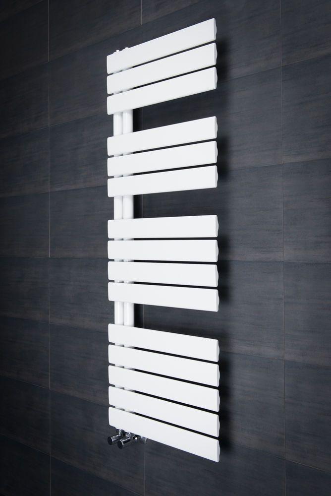 Designer Handtuchheizkörper Badheizkörper 1380x500mm Weiß