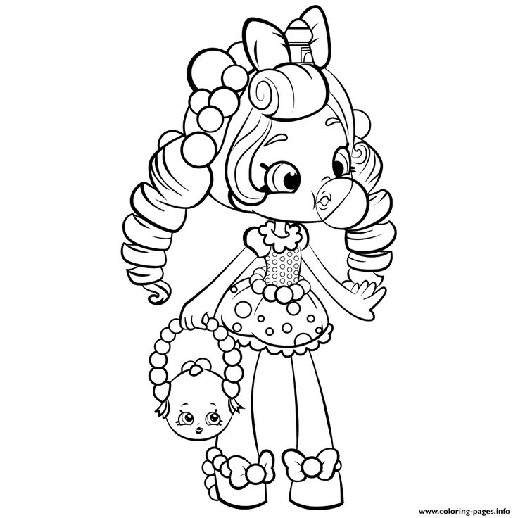 Print shopkins shoppies gum baloon coloring pages