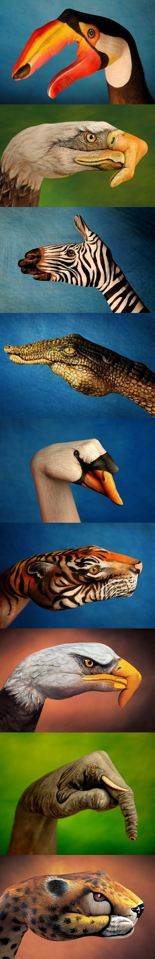 THE MOST AMAZING hand art you ever saw! >> I love these, I have seen them ...