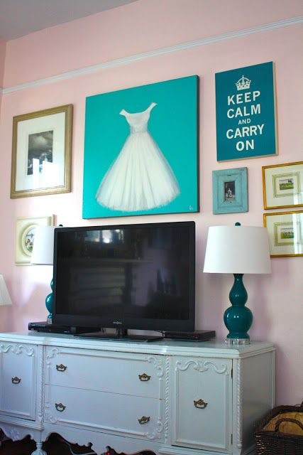 The Projects | My Old Country House THE DRESS PAINTING AND THE TV WALL