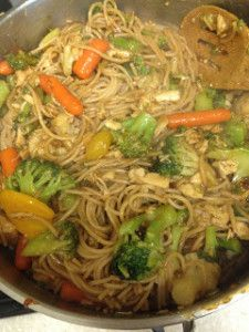 last week when we were deciding what to have for dinner and i said i was craving stir fry,  husband said yes...but asked could i try it with noodles instead of rice? umm, good call husband. maybe you should be the chef. i used our favorite brown noodles from costco, then made the stir fry veggies, chicken, sauce, and added noodles in. i am not exaggerating when i say that chase went back for FOURTHS.it is so good! here is the simple recipe i use...you can make it with noodles or rice! …