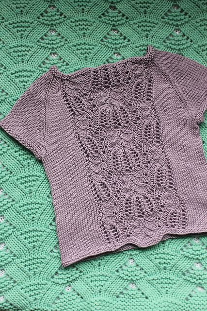 Errata:After completing the Raglan shaping section, directly before beginning the garter stitch neckband, pattern should read: