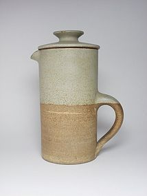 Vintage Robin Welch stoneware studio pottery large coffee pot.
