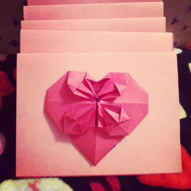 valentine origami heart ring