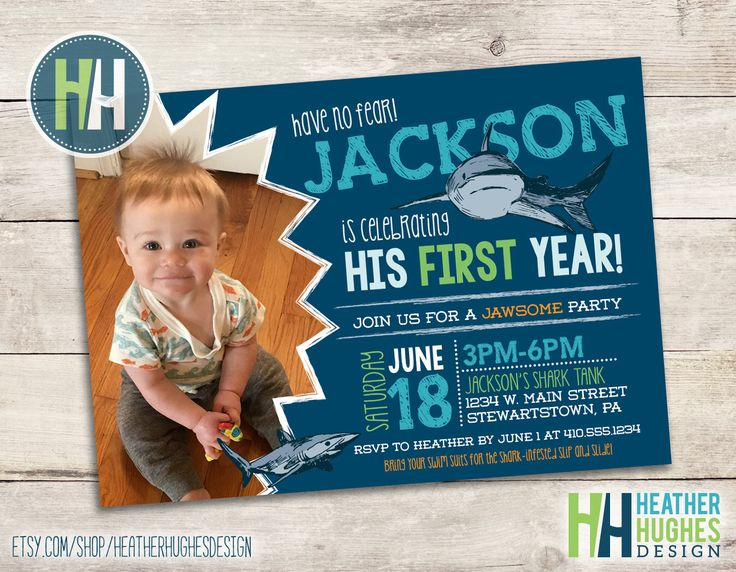 shark birthday invite, boy first birthday jawsome shark bite invitation, 1st birthday printable invitation, personalized by Heather Hughes by HeatherHughesDesign on Etsy https://www.etsy.com/listing/286967191/shark-birthday-invite-boy-first-birthday