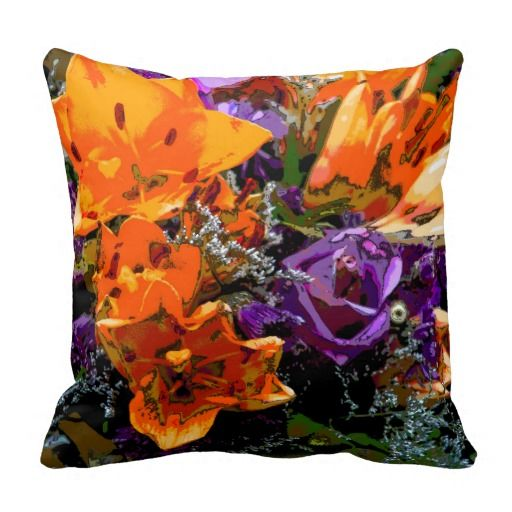 #Floral #ThrowPillow #Flowers #Cushion Floral Flower Pillow