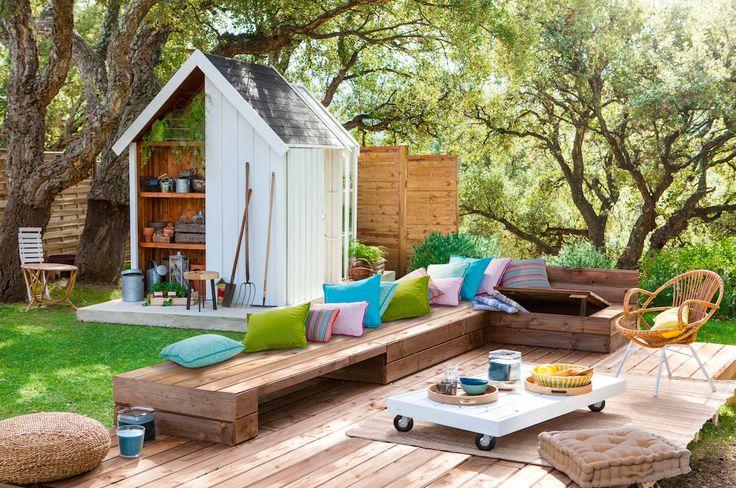128 best jardines y terrazas images on pinterest for Columpios de jardin leroy merlin