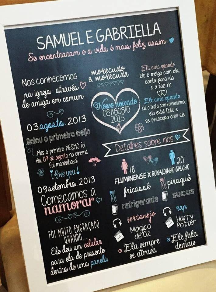 chalkboard quadro personalizado presente, namorados, festa