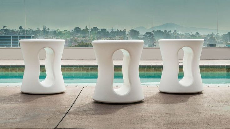 Post Modern Mid Century Outdoor stools/tables by Tropitone. Available at Oregon's largest patio furniture showroom, Patio World of Bend Oregon