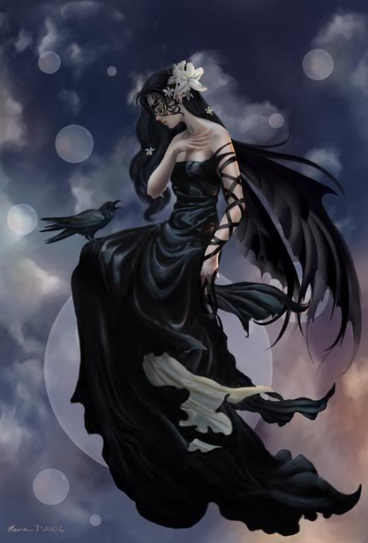 Dark Fairy Wallpaper | Dark Moon Fairy Graphics Code | Dark Moon Fairy Comments & Pictures