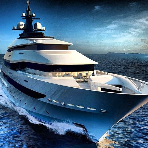 YACHT EXTERIOR: 3 Tier Layer Design Front LOVE Brown Glass Idea