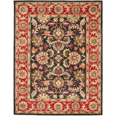 Safavieh Heritage Chocolate Red 8 Ft X 10 Ft Area Rug
