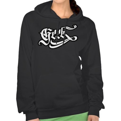 Geek Girl Hooded Pullover #geek #lettering #LetterHype