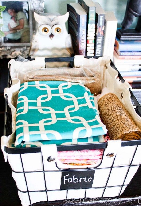 Office organization tips with BHG baskets from Walmart - Ask Anna #sponsored by BHG Live Better #ad