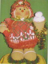 Galleta navideña con helado
