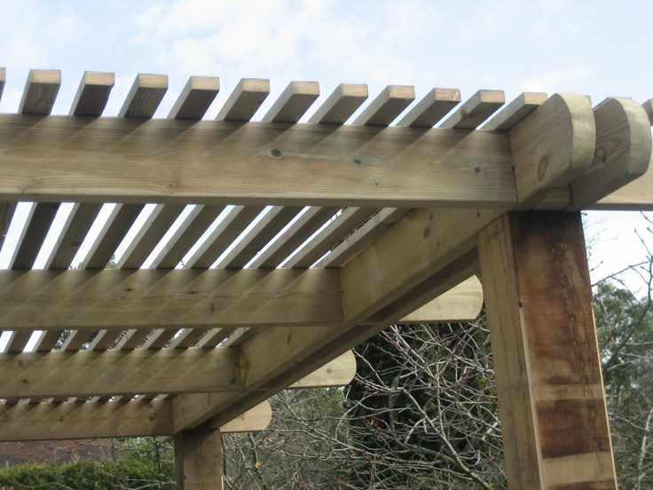Pergola With Slatted Roof For Shade Pergola