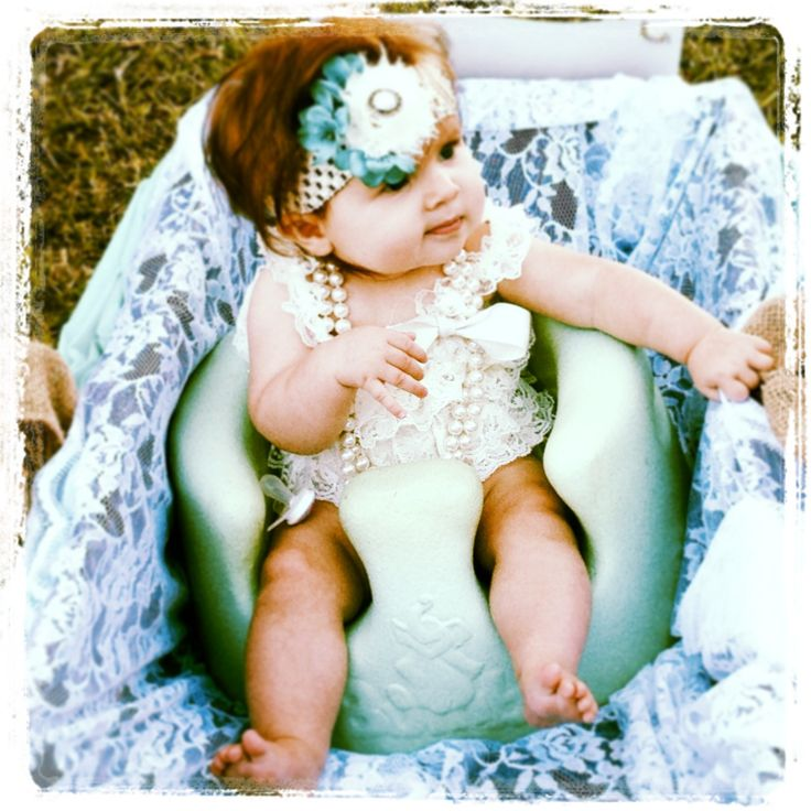 This is going to be Eva! Shabby, chic, rustic wedding baby flower girl in wagon- beautiful!!