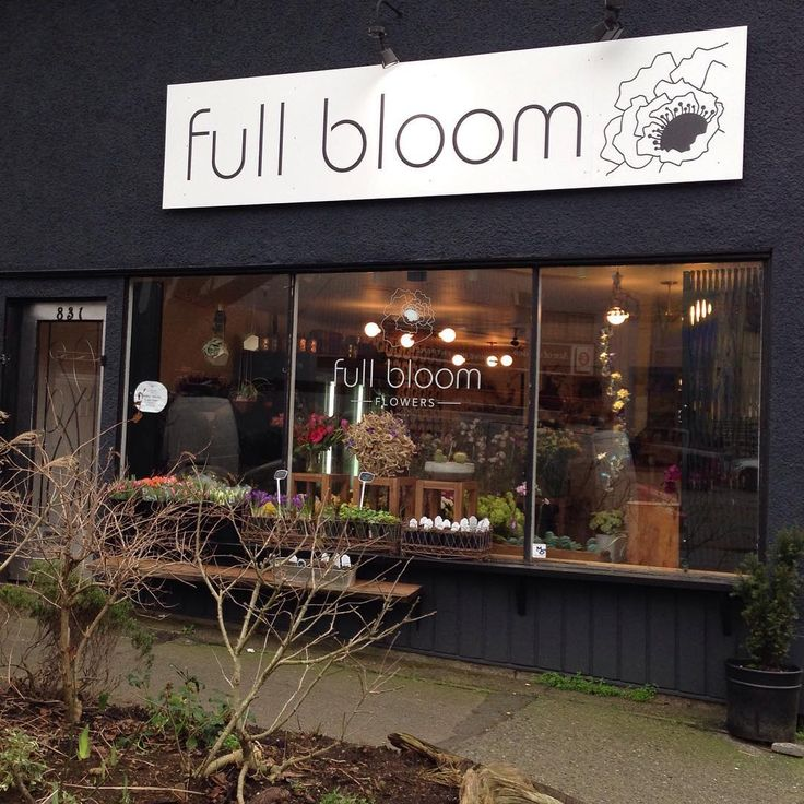 Our new sign!!! Full Bloom Flowers, Commercial Drive, East Vancouver