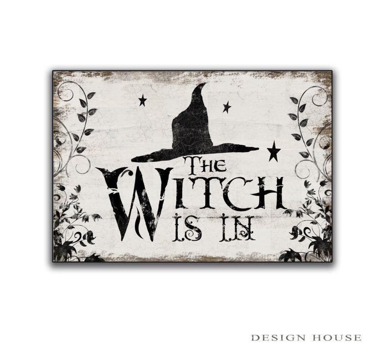 Halloween wooden sign Halloween decor Witch decor Halloween art witch art  Witch sign Spooky signs Halloween signs The witch is in sign by DesignHouseDecor on Etsy https://www.etsy.com/listing/202511589/halloween-wooden-sign-halloween-decor