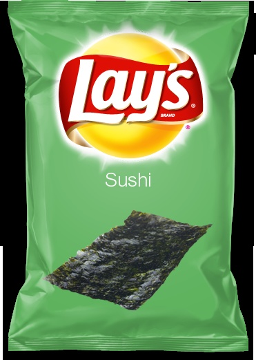 Would you eat Sushi flavored Lay's chips? Vote for me!