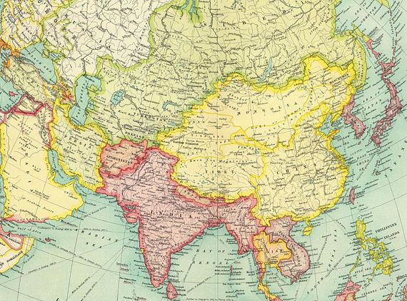 Download Map Of Asia.Asia Printable Poster Antique Asia Map Digital Print China Poster