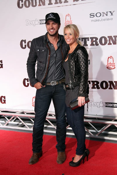 Luke and Caroline Bryan attend the premiere of Country Strong in Nashville, Tennessee on 8 November, 2010.