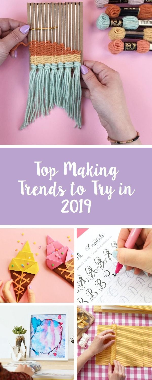 Want to know the top craft trends of 2019? Look no further