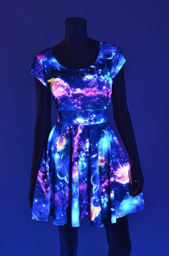 Garment printed with Phosphorescent (glow in the dark) inks.  Could be printed through screen printing: