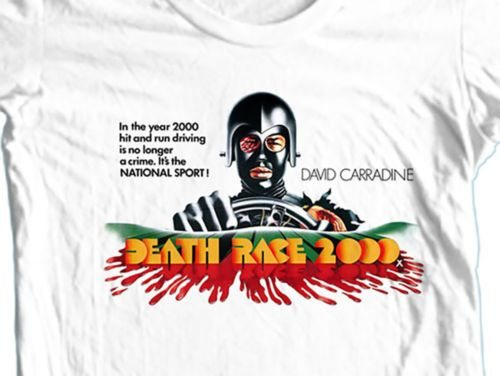 Deathrace-2000-T-Shirt-retro-70-039-s-movie-Sci-Fi-Horror-film-David-Carradine-tee