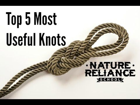 Top Five Useful Knots for camping, survival, hiking, and more - YouTube ~  Half Hitch, Fisherman's Knot, Prussik, Trucker's Hitch, Clove Hitch. Very clear instruction. He did a great job!